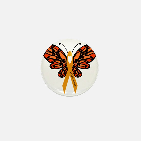 MS Heart Butterfly Mini Button