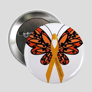 "MS Heart Butterfly 2.25"" Button"