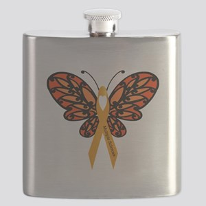 MS Heart Butterfly Flask