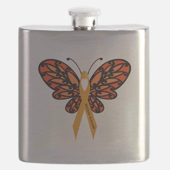 MS Heart Butterfly Flask