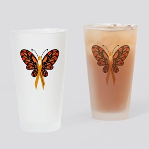 MS Heart Butterfly Drinking Glass