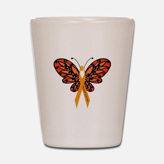 MS Heart Butterfly Shot Glass