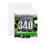 340 SWINGER GREEN Greeting Cards