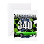 340 SWINGER GREEN Greeting Cards