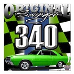 340 SWINGER GREEN Square Car Magnet 3