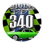 340 SWINGER GREEN Round Car Magnet