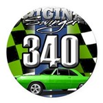 340 SWINGER GREEN Round Car Magnet