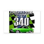 340 SWINGER GREEN Rectangle Car Magnet