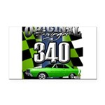 340 SWINGER GREEN Rectangle Car Magnet