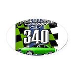 340 SWINGER GREEN Oval Car Magnet