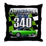 340 SWINGER GREEN Throw Pillow