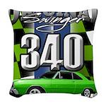 340 SWINGER GREEN Woven Throw Pillow