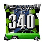 340 SWINGER GREEN Woven Throw Pillow