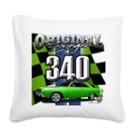 340 SWINGER GREEN Square Canvas Pillow