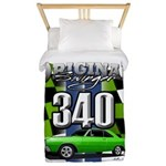 340 SWINGER GREEN Twin Duvet