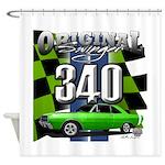 340 SWINGER GREEN Shower Curtain