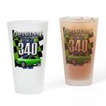 340 SWINGER GREEN Drinking Glass