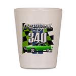 340 SWINGER GREEN Shot Glass