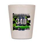 340 SWINGER GREEN Shot Glass