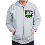 340 SWINGER GREEN Zip Hoodie