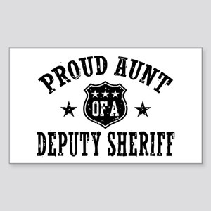 Proud Aunt of a Deputy Sheriff Sticker (Rectangle)