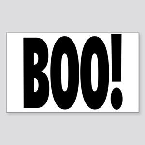 Boo! in black Sticker
