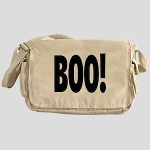 Boo! in black Messenger Bag
