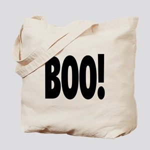 Boo! in black Tote Bag