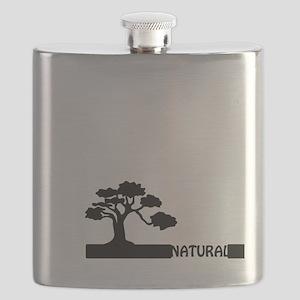 Natural, natural tree shape on grader. Flask