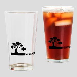 Natural, natural tree shape on grad Drinking Glass
