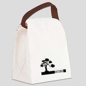 Natural, natural tree shape on gr Canvas Lunch Bag