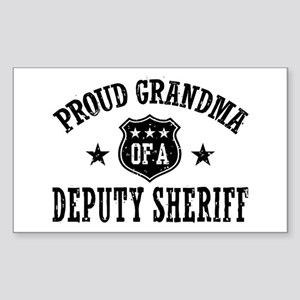 Proud Grandma of a Deputy Sheriff Sticker (Rectang