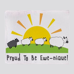 Proud To Be Ewe-nique Throw Blanket