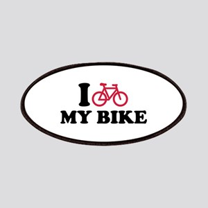 I love my bike bicycle Patches