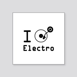 "I play Electro Music / I lo Square Sticker 3"" x 3"""