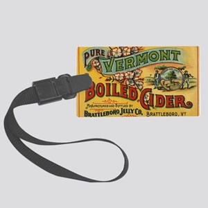 Vintage Label Art Large Luggage Tag