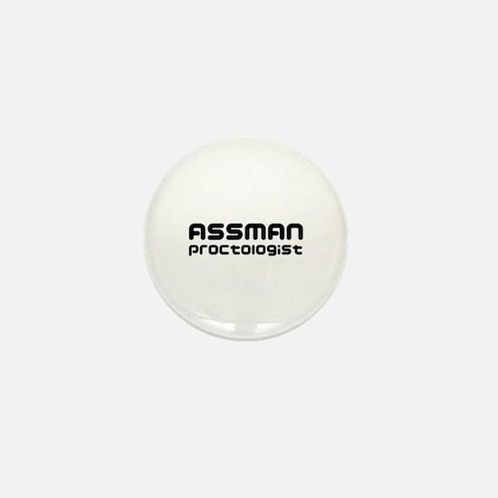 Assman proctologist  Mini Button