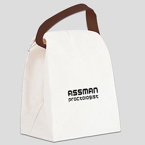 Assman proctologist  Canvas Lunch Bag