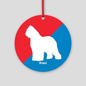 Briard Diagonal Ornament (Round)