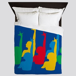 Synchronized Swimming Queen Duvet