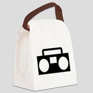 Radio Music ghettoblaster Canvas Lunch Bag