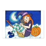 Kitten and Witch Postcards (Package of 8)