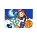 Kitten and Witch Wall Decal