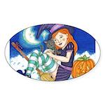 Kitten and Witch Sticker