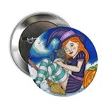"""Kitten and Witch 2.25"""" Button"""