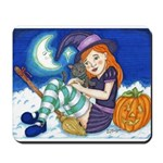 Kitten and Witch Mousepad