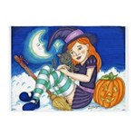 Kitten and Witch 5'x7'Area Rug