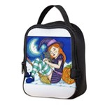 Kitten and Witch Neoprene Lunch Bag