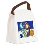 Kitten and Witch Canvas Lunch Bag