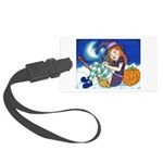 Kitten and Witch Luggage Tag